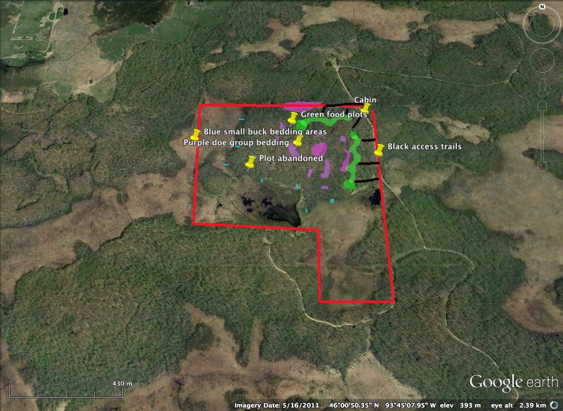 Deer Property Layout Bartylla S Whitetail Habitat Plans
